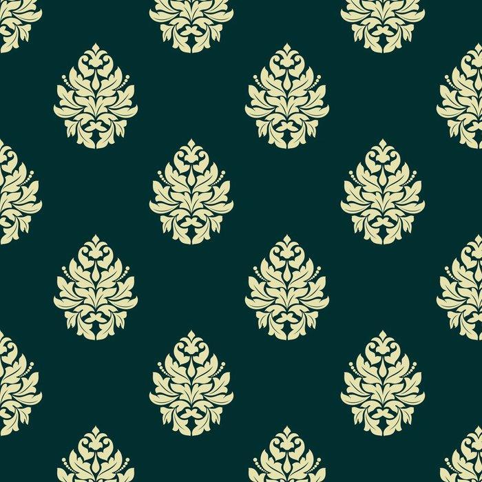 Tapeta Pixerstick Květinová světle zelená damaškové bezproblémové vzor - Pozadí