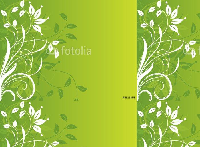 Vinylová Tapeta Květinové abstraktní pozadí. Vektorové ilustrace. - Květiny
