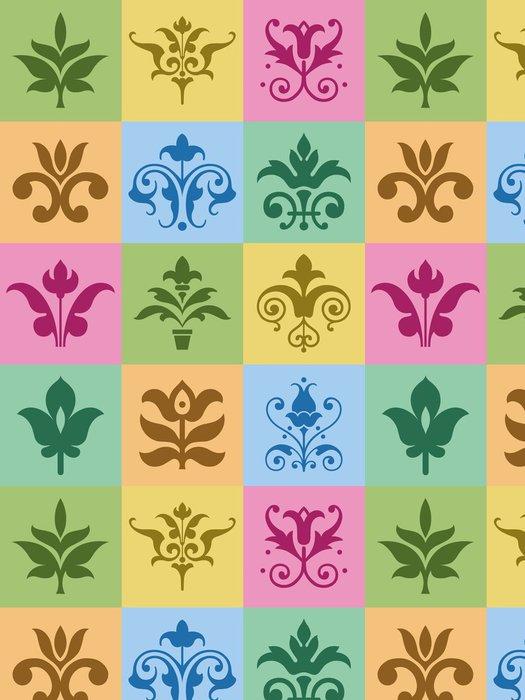Tapeta Pixerstick Květinové ornamenty - Značky a symboly