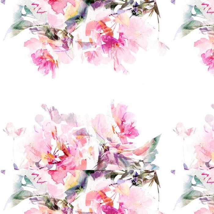 Tapeta Pixerstick Květinové pozadí akvarel. Roses. - Styly