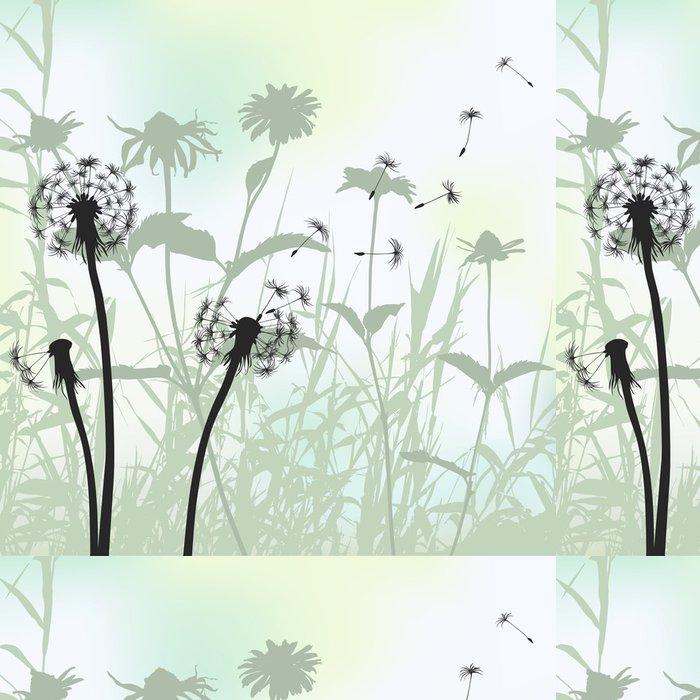 Tapeta Pixerstick Květinové pozadí, pampeliška louka diuring letního - iStaging 2