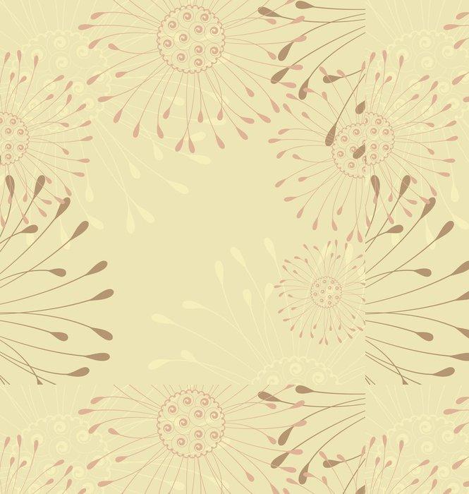 Tapeta Pixerstick Květinové pozadí - Roční období