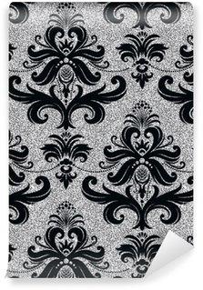 Tapeta Pixerstick Květinové tapety stříbro
