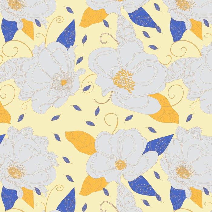 Vinylová Tapeta Květinové textury - Pozadí