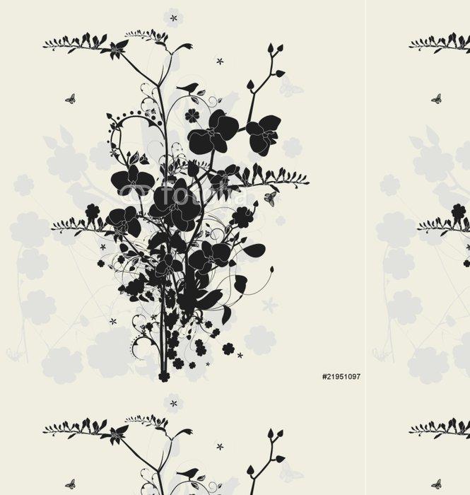 Tapeta Pixerstick Květinový design s frézií a orchidejí - Styly