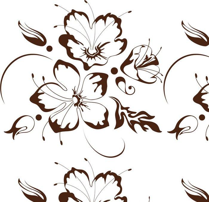 Tapeta Pixerstick Květinový design, vektorové ilustrace - Květiny