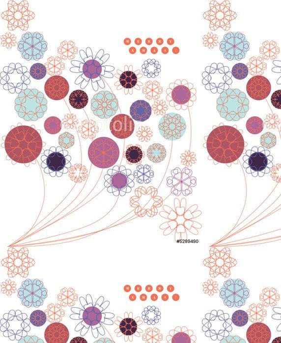 Vinylová Tapeta Květinový grafický - Pozadí