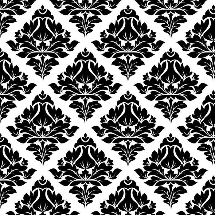 Vinylová Tapeta Květinový vzor arabeska s diamantovým motivem - Pozadí