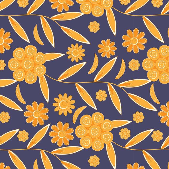 Vinylová Tapeta Květinový vzor bezešvé pozadí - Pozadí