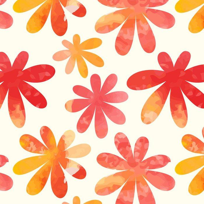 Tapeta Pixerstick Květinový vzor bezešvé. Vektor akvarel květiny. - Roční období
