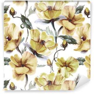 Tapeta Pixerstick Květinový vzor bezešvé