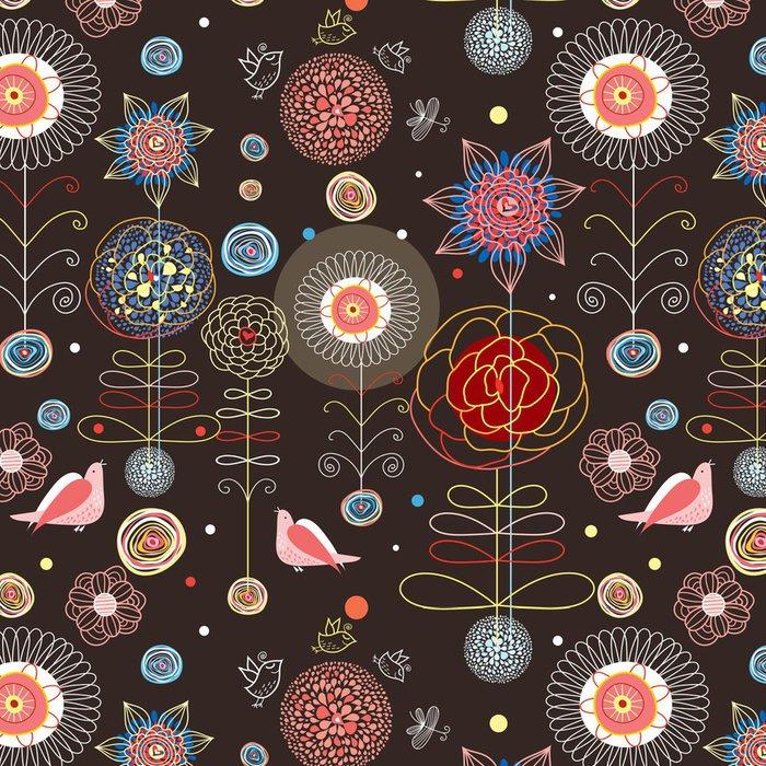 Tapeta Pixerstick Květinový vzor bezešvé - Struktury