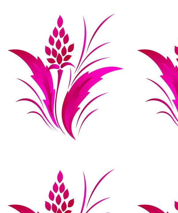 Tapeta Pixerstick Květinový vzor klasický, tetování - Pozadí