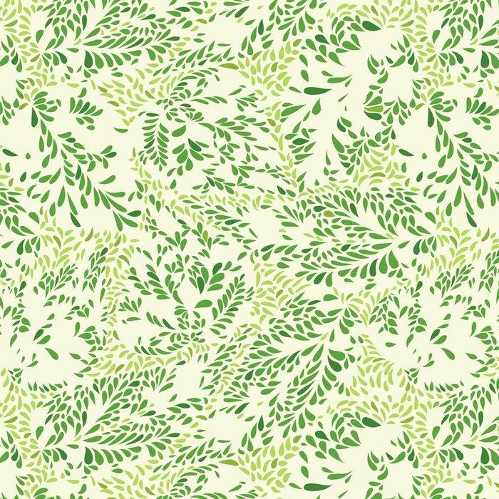 Tapeta Pixerstick Květinový vzor Listy texturami kachlová pozadí Okrasné floururish abstrakci - Grafika