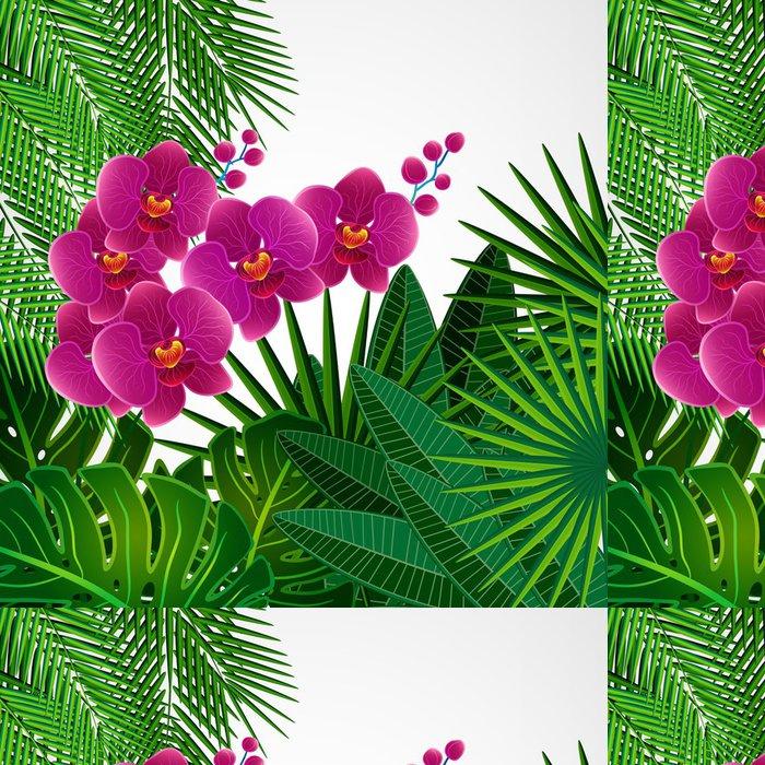 Tapeta Pixerstick Květinový vzor na pozadí. Orchid květiny. - Pozadí