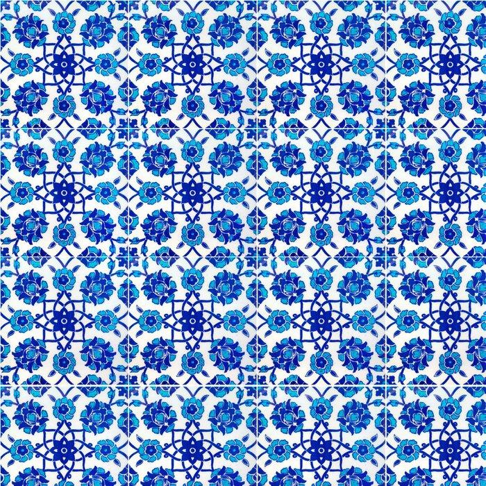 Tapeta Pixerstick Květinový vzor na starých tureckých dlaždice, Istanbul, Turecko - Styly