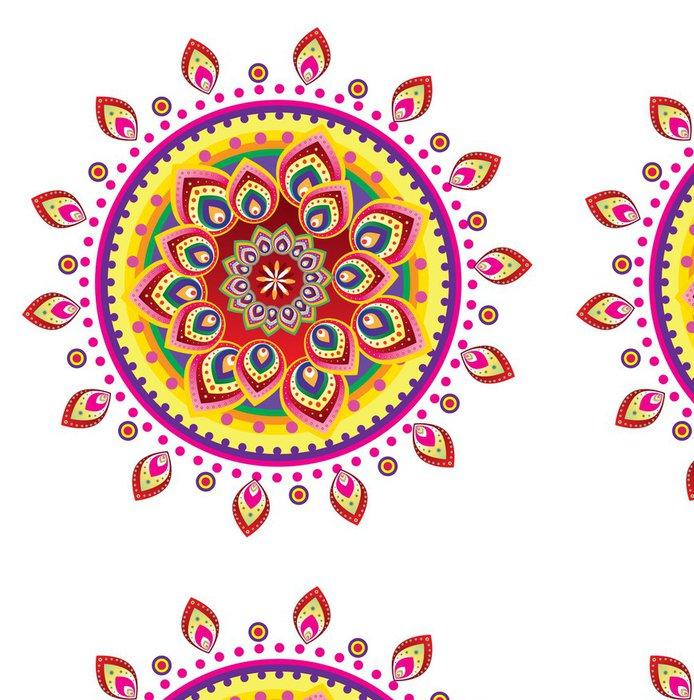 Tapeta Pixerstick Květinový vzor ornament (mandala styl) - Nálepka na stěny