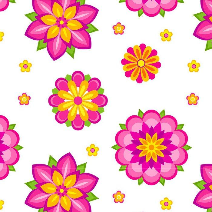 Tapeta Pixerstick Květiny bezešvé vzor - Struktury