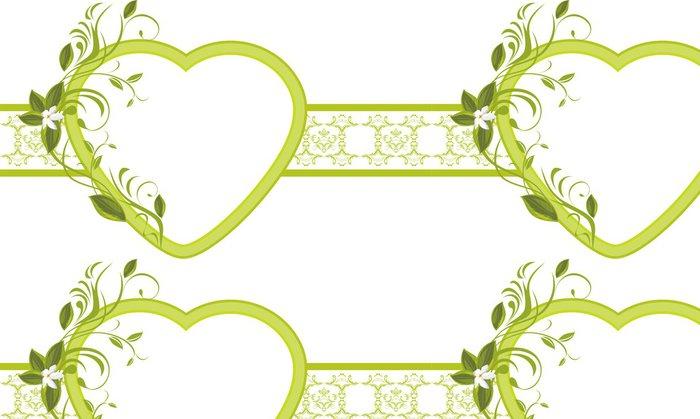 Tapeta Pixerstick Kvetoucí ratolest se srdcem na okrasnou hranici - Mezinárodní svátky