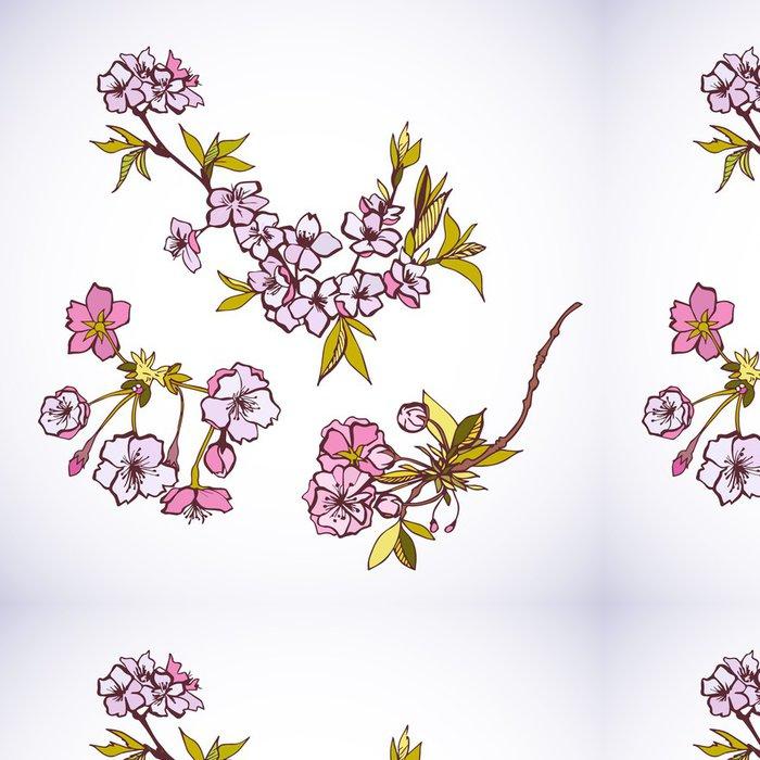 Tapeta Pixerstick Kvetoucí sakury ozdobné prvky - Stromy