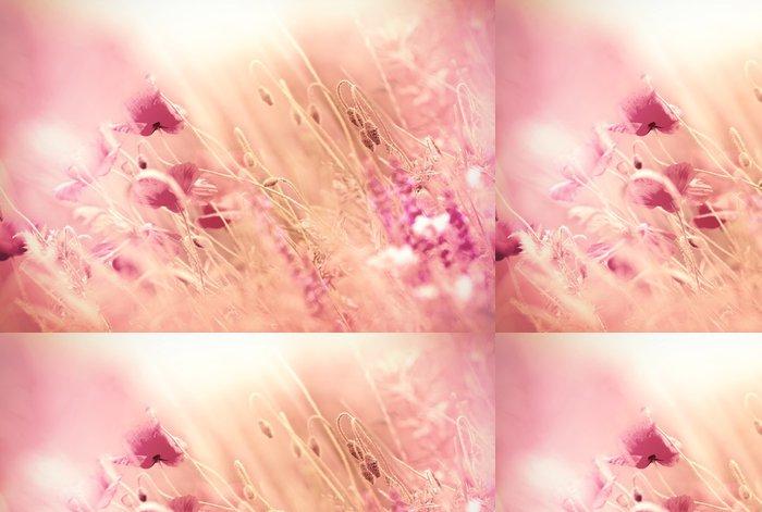 Tapeta Pixerstick Květy máku v trávě - Květiny
