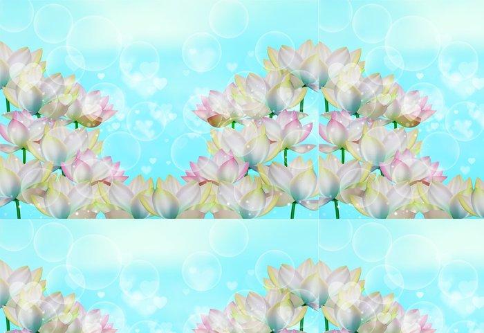 Tapeta Pixerstick Květy v slunečních paprsků - Styly