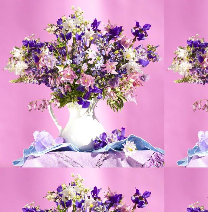 Tapeta Pixerstick Kytice jarních květin, duhovky a Aquilegia - Mezinárodní svátky