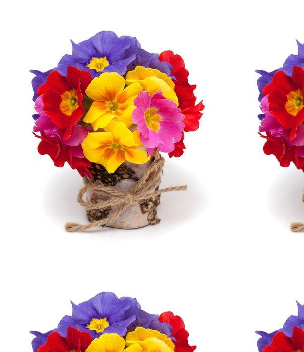 Tapeta Pixerstick Kytice květů Primula - Květiny