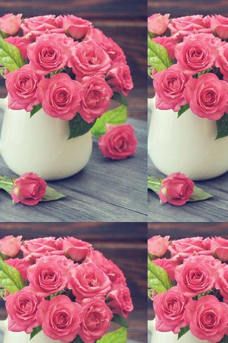 Tapeta Pixerstick Kytice z růžových růží - Mezinárodní svátky