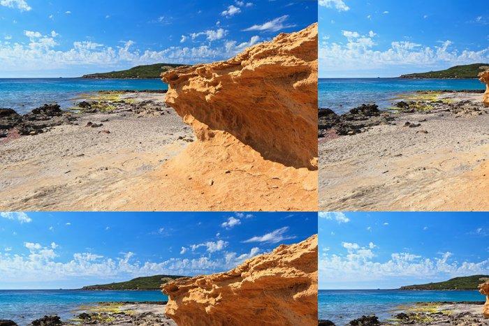 Tapeta Pixerstick La Caletta beach - ostrov San Pietro - Evropa
