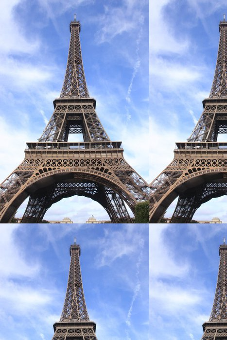 Tapeta Pixerstick La Tour Eiffel en contreplongée - Evropská města