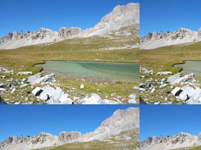 Tapeta Pixerstick Lac de l'oronaye - Hory