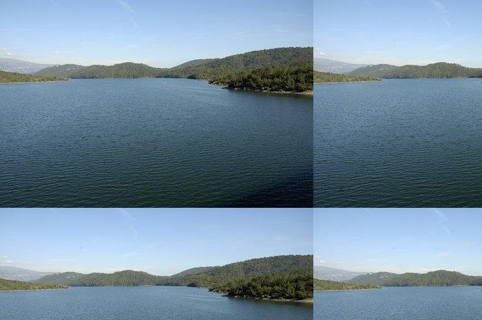 Tapeta Pixerstick Lac de St Cassien des Bois - Přírodní krásy