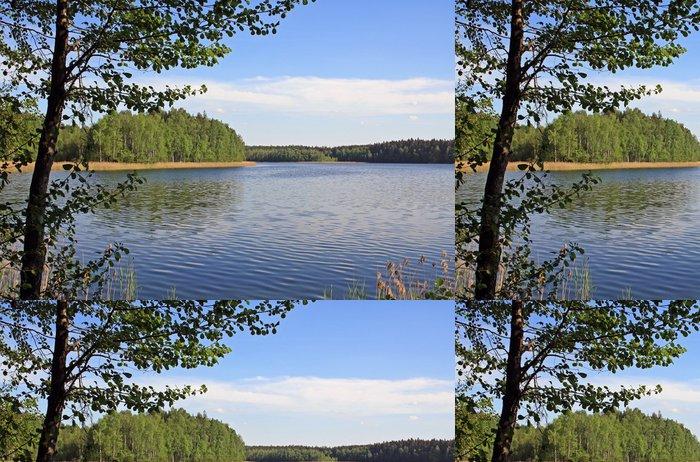 Tapeta Pixerstick Lake v národním parku v Bělorusku - Voda