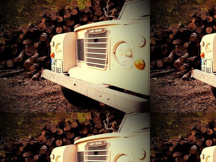 Tapeta Pixerstick Land Rover Series 3 - Na cestě