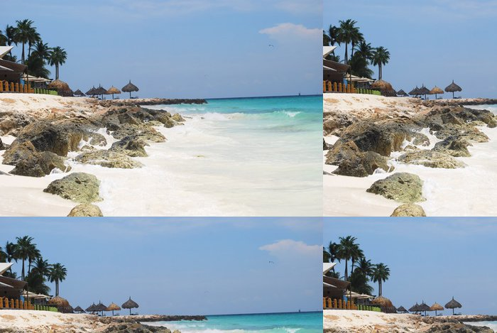 Tapeta Pixerstick Landscape fotografie tropické pláže Aruba. - Oceánie
