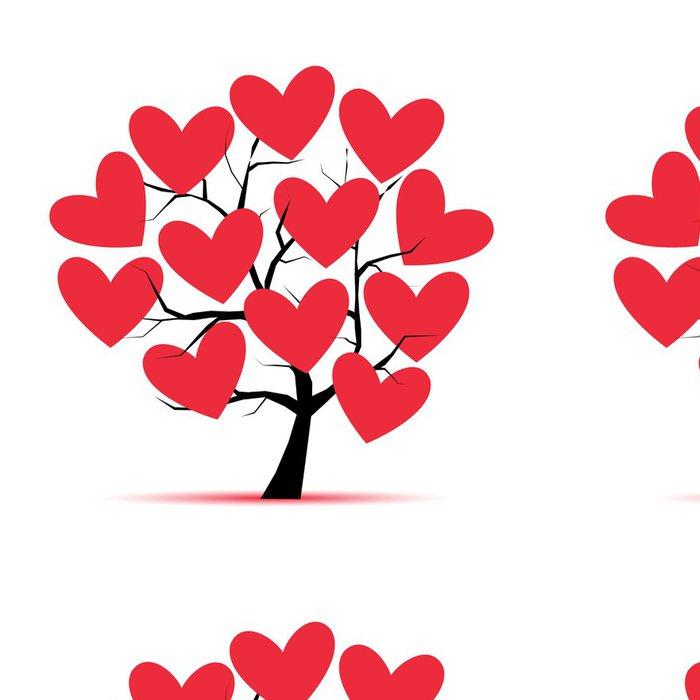 Tapeta Pixerstick Láska strom se srdcem pro návrh - Stromy