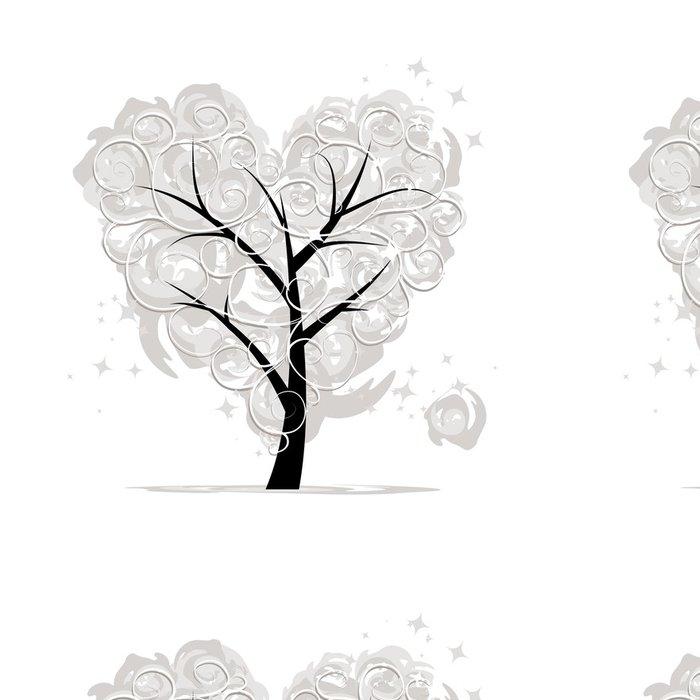 Tapeta Pixerstick Láska strom, tvaru srdce pro svůj design - Mezinárodní svátky