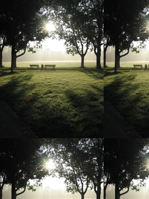 Tapeta Pixerstick Lavičky v parku - Jiné pocity