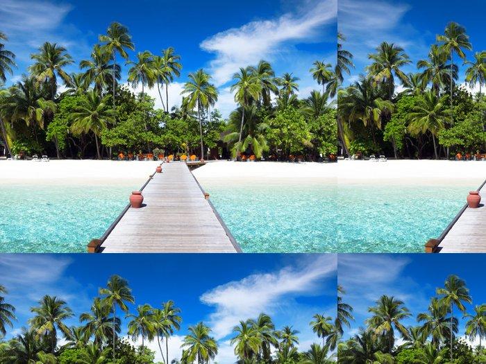 Tapeta Pixerstick Lávka, Maledivy - Ostrovy