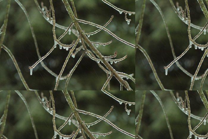 Tapeta Pixerstick Led pokryl větve - Přírodní krásy