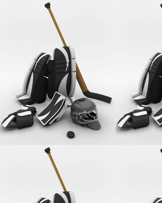 Tapeta Pixerstick Lední hokej brankářská výstroj - Sportovní potřeby