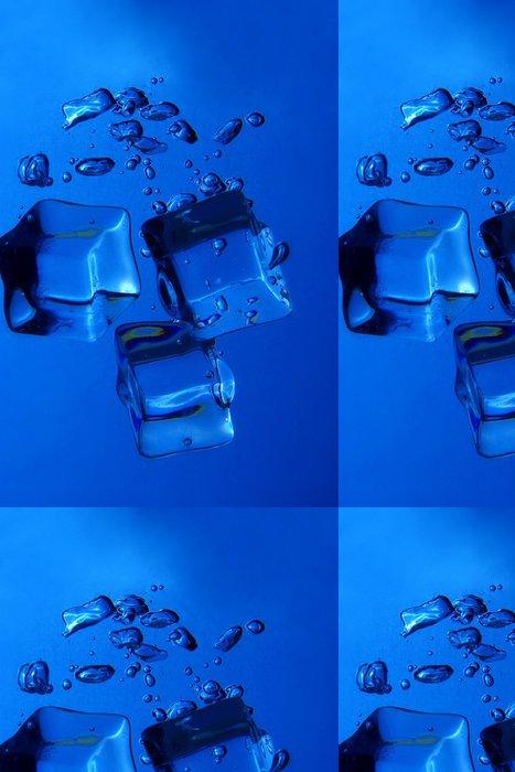 Tapeta Pixerstick Ledové kostky stříkající - Pozadí