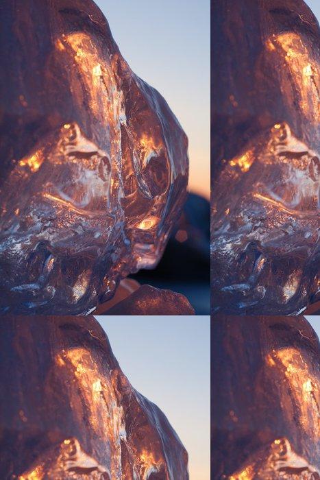 Tapeta Pixerstick Ledové krystalky v svítání - Abstraktní