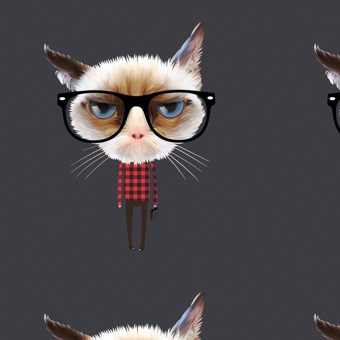 Tapeta Pixerstick Legrační karikatury kočky, vektorové ilustrace eps10. -