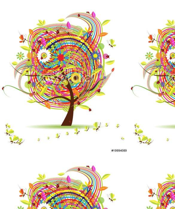 Tapeta Pixerstick Legrační na jaře strom pro svůj design - Roční období