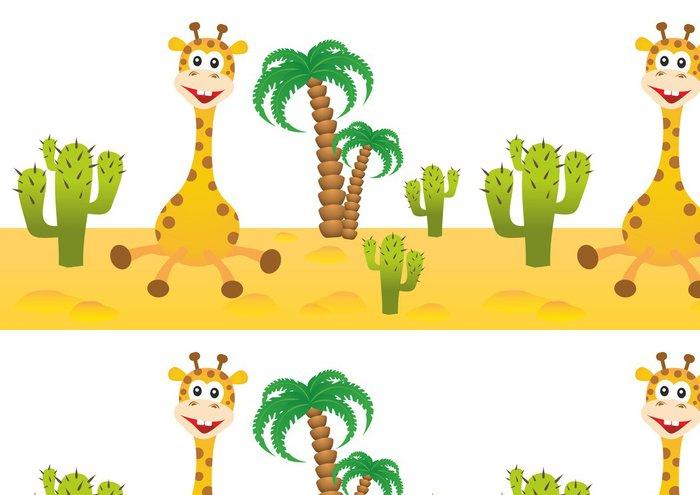 Tapeta Pixerstick Legrační žirafa v Africe - Savci