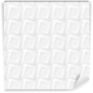 Vinylová Tapeta Lehká bílá geometrický vzor bezešvé