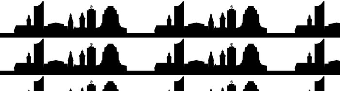 Vinylová Tapeta Leipzigs Wahrzeichen (Silhouette) - Město
