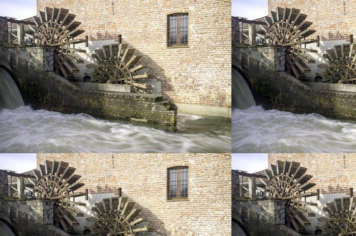 Tapeta Pixerstick Leonardo da Vinci je vodní mlýn barevný obrázek - Památky
